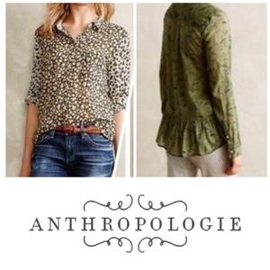 Anthropologie Holding Horses Mixed Floral Top 6